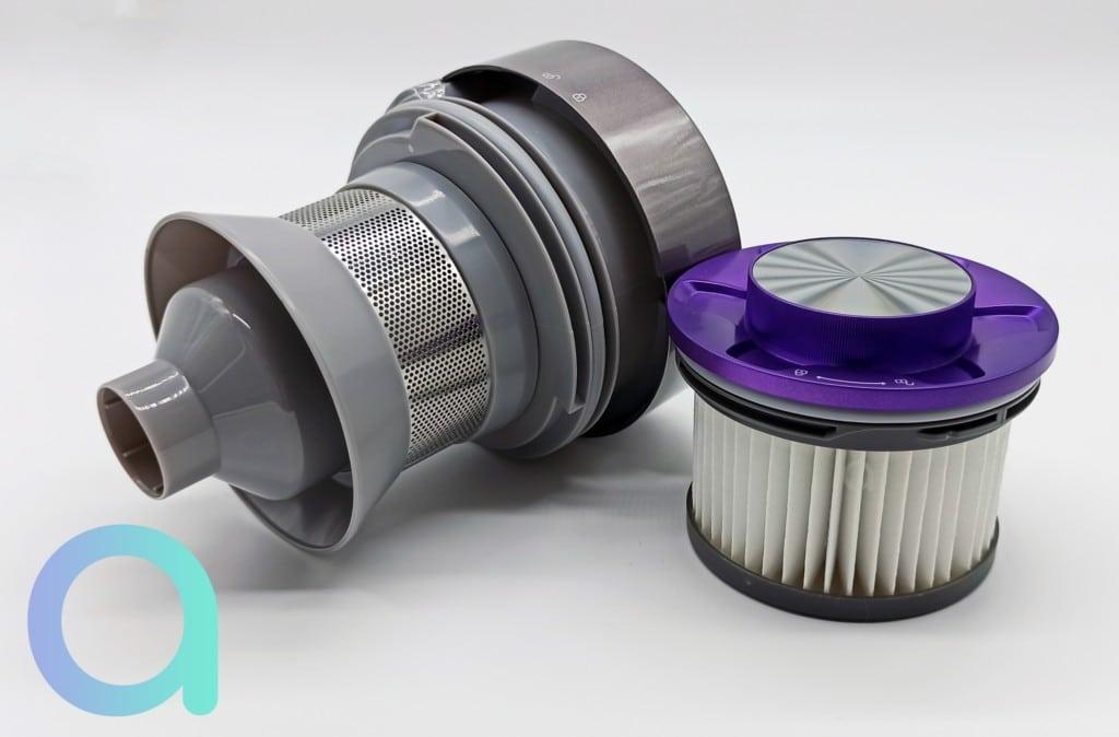 système cyclonique et filtre HEPA du balai aspirateur H8 Pro Jimmy
