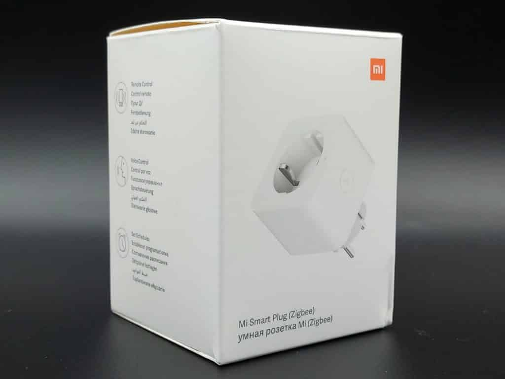 Packaging avant de la prise connectée ZigBee Xiaomi Mi Smart Plug