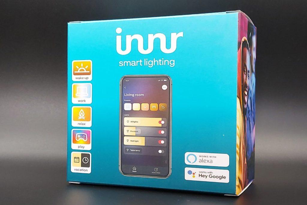 Fonctionnalités des ampoules Innr RGBW compatible avec les assistants vocaux Amazon Alexa et Google Assistant