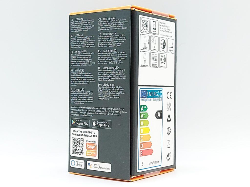 Ampoule 470 lm de 4.5 W Smart Filament LED de chez Action