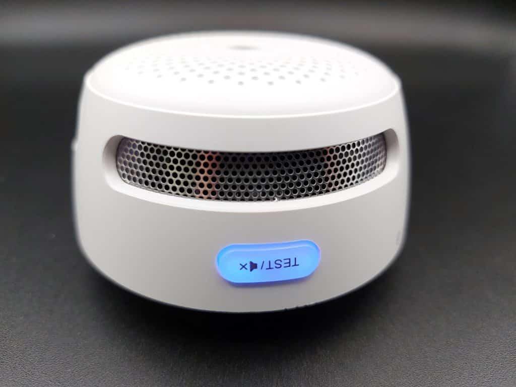 Bouton fonction avec LED témoin du détecteur de fumée X-Sense