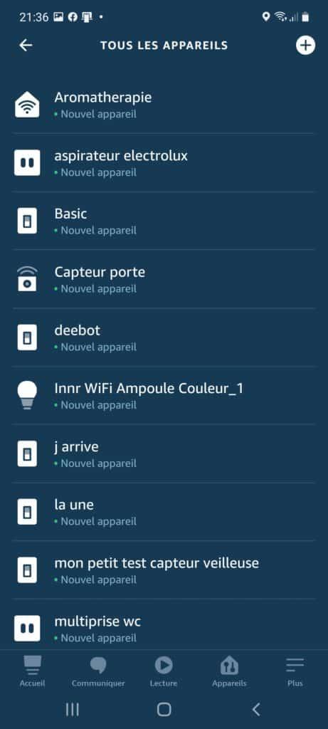 Intégration de l'ampoule Wi-FiInnr dans l'application Alexa