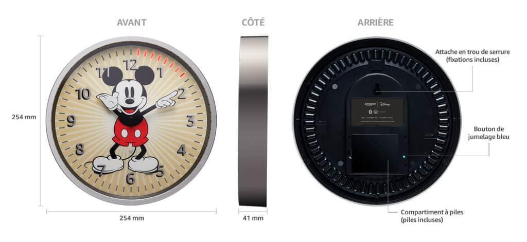 Echo Wall Clock édition Disney Mickey Mouse : les caractéristiques techniques