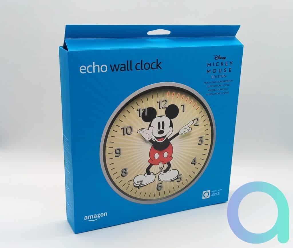 Coffret au couleur bleu des appareils Amazon Echo pour l'Echo Wall Clock Mickey Mousse