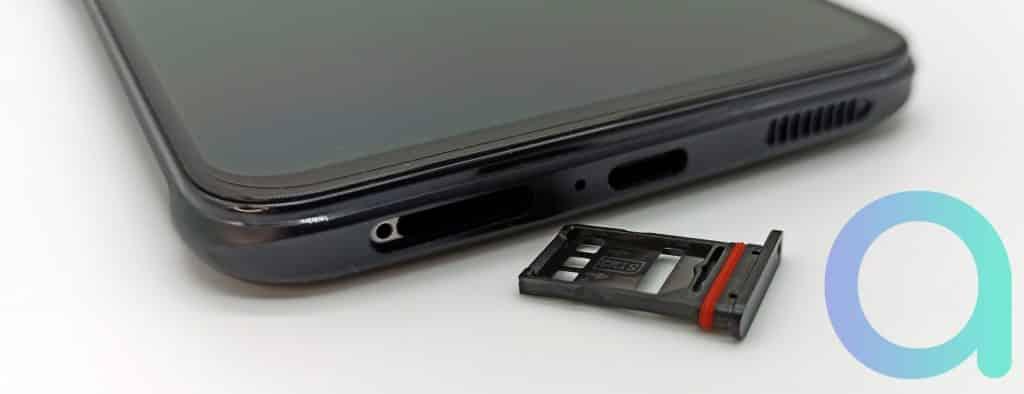 tiroir pour doble carte nano SIM du smartphone Nubia RedMAgic 6