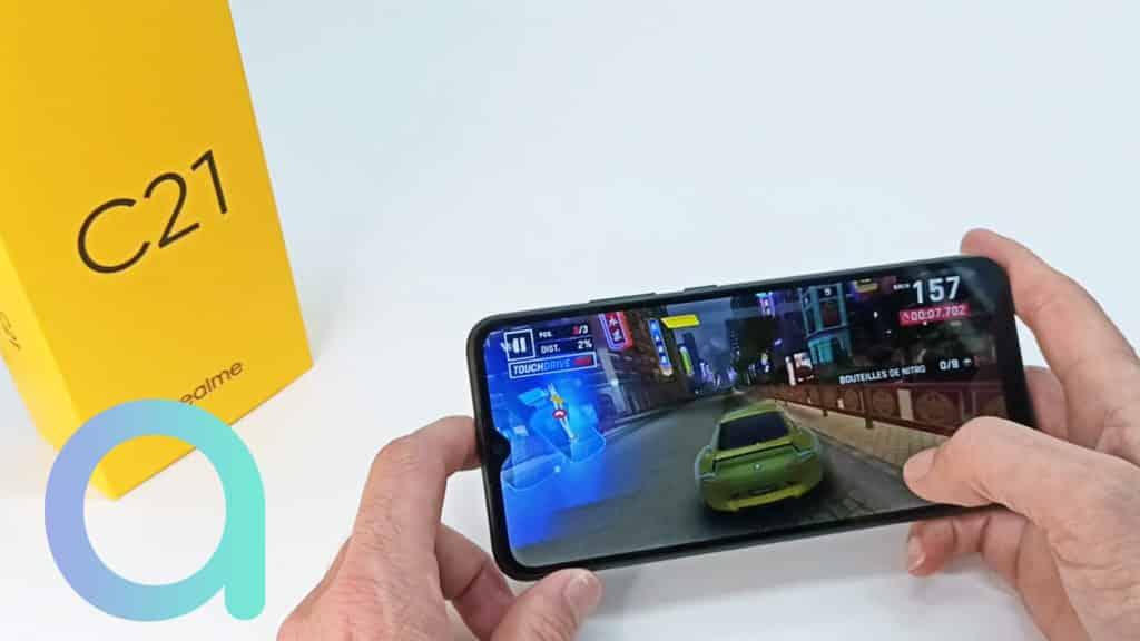 Affichage vidéo sur le smartphone Realme C21