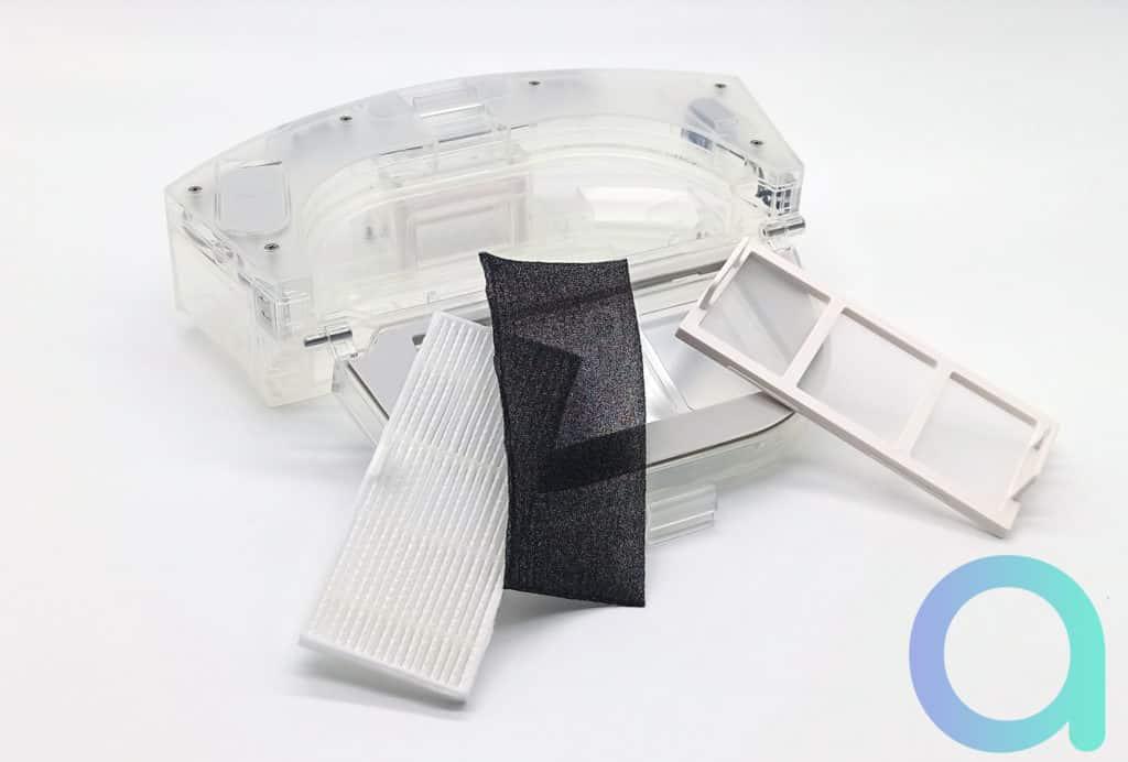 3 types de filtre : HEPA, mousse et grille faisant office de préfiltre sur l'aspirateur Ultenic T10
