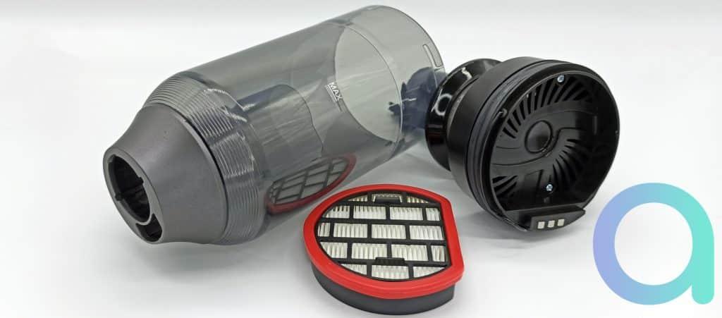 Tous les accessoires de l'aspirateur balai Ultenic U10 sont lavables à l'eau