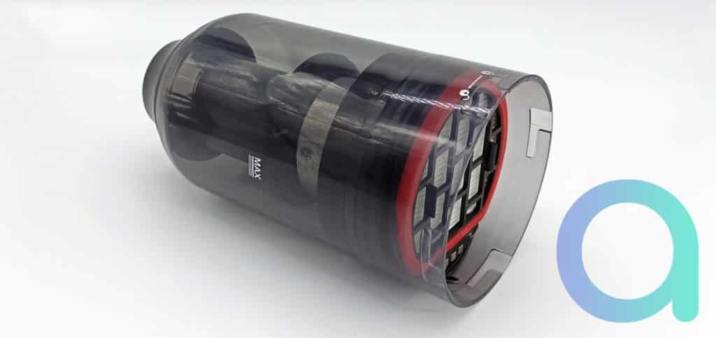 Bac à poussière incluant le système de filtration du U10