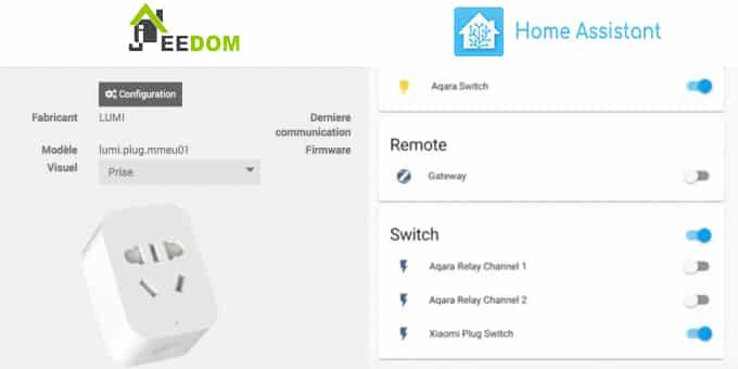 Installer la prise Xiaomi Mi Smart Plug sur Home Assistant et Jeedom