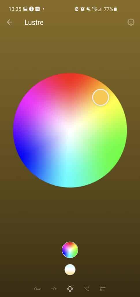 Choix des couleurs des ampoules connectées Philips Hue