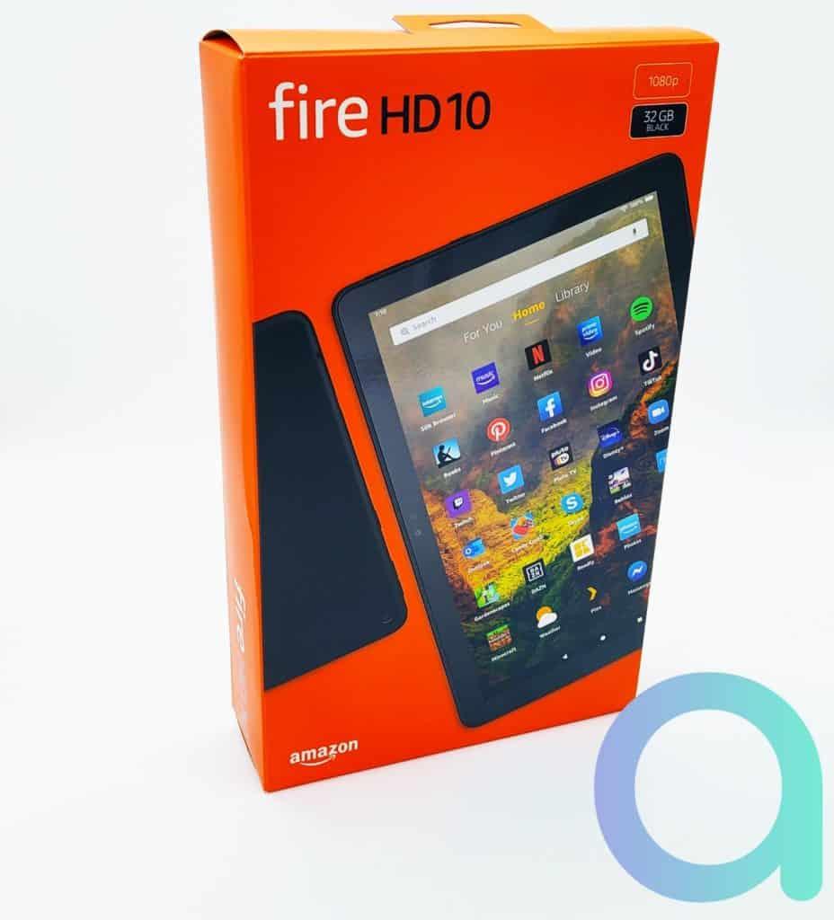 packaging orange reprenant le code couleur des appareils Fire