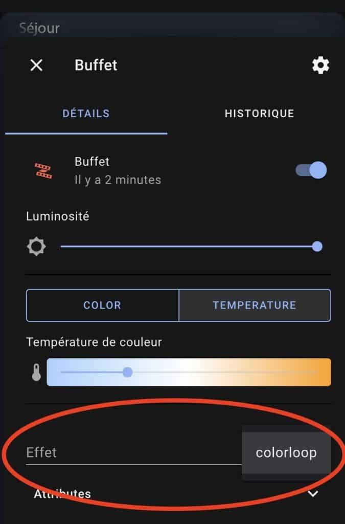Le ruban LED ZigBee Ledvance Smart+ Indoor dans Home Assistant OS