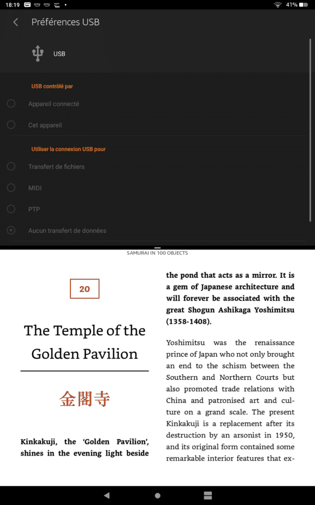La tablette d'Amazon peut afficher 2 applications différents en même temps