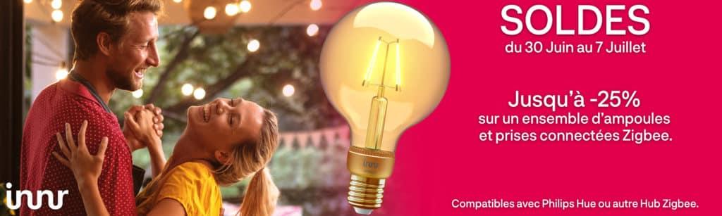 Soldes d'été : l'éclairage connectéZigBee pour Alexa et Google en promo chez Domadoo