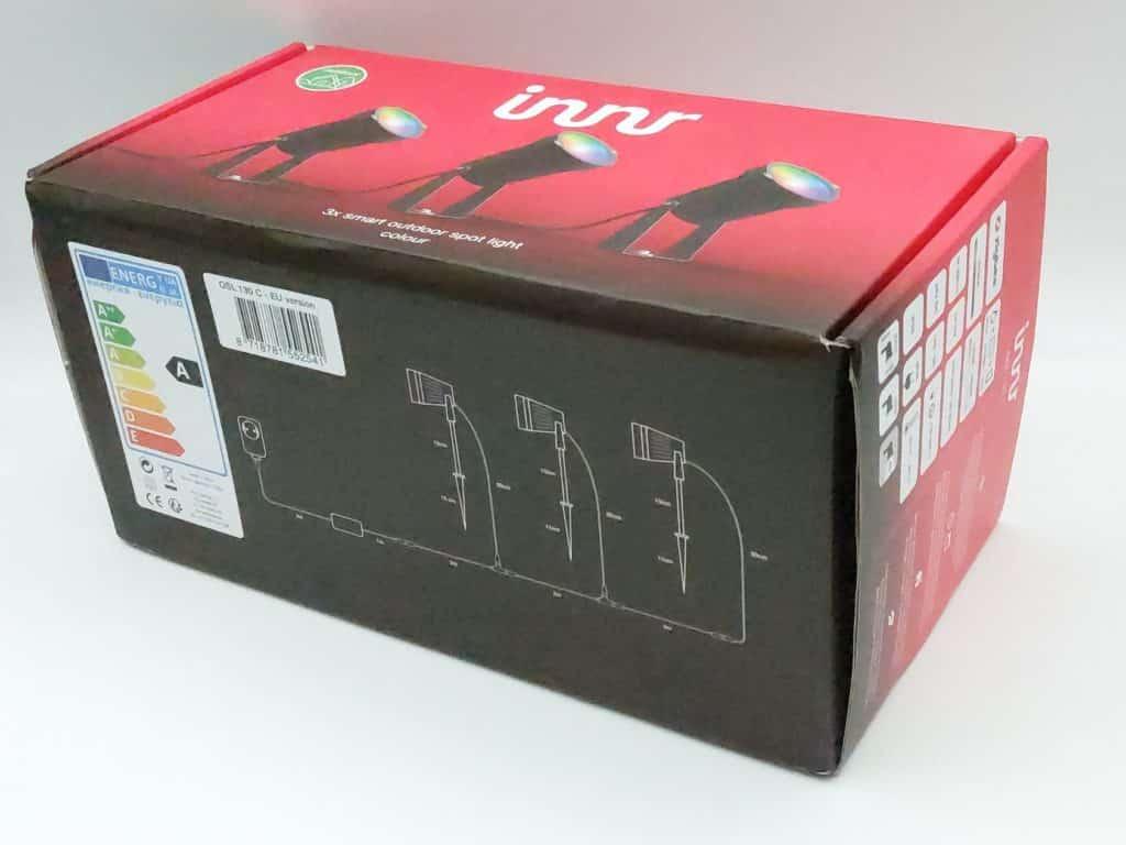 Innr présente ses spots toujours dans un packaging au couleur de la marque : le rouge