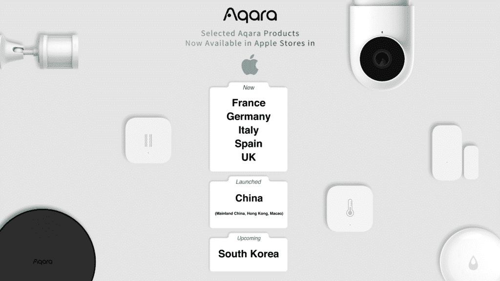 Aqara annonce la disponiblité de ses produits dans les Apple Stores en Europe