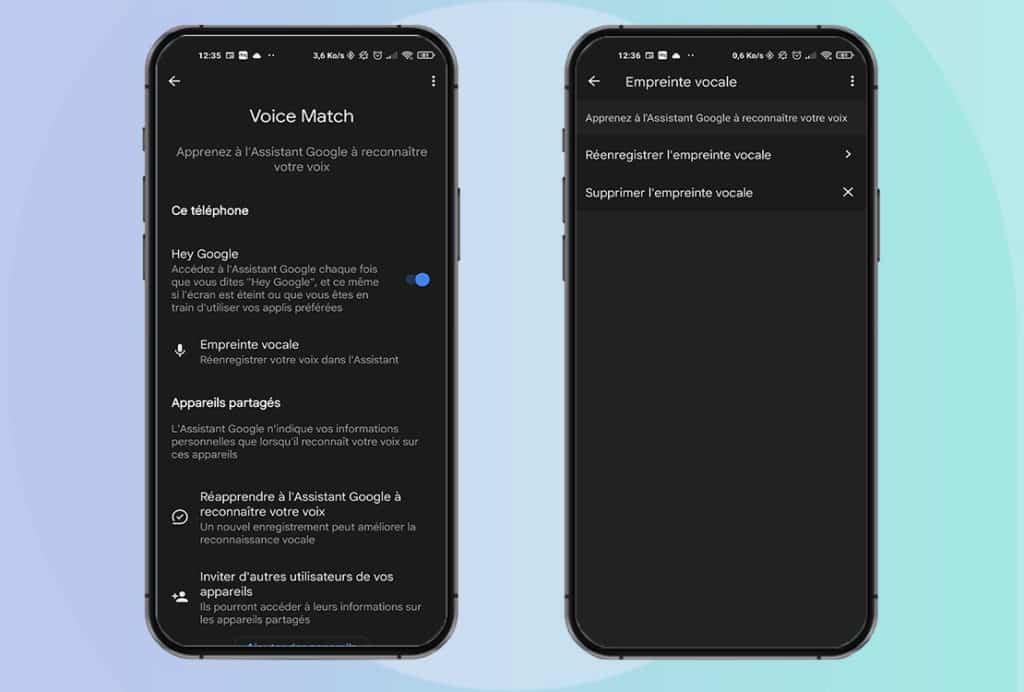 Configurer sa voix sur Google Assistant avec Voice Match