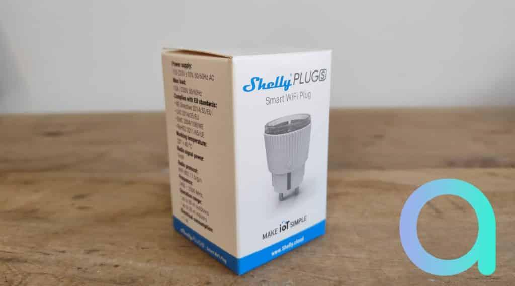 La Shelly Plug S s'affiche sur la totalité de la face du packaging