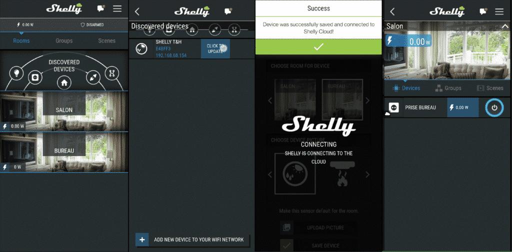 Installation pas toujours très simple de la Shelly Plug S sur l'application, mais quand ça veut bien le faire, c'est que du bonheur