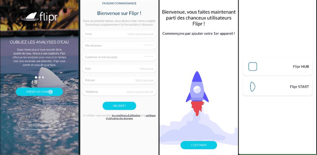 Cration du compte sur l'application Flipr