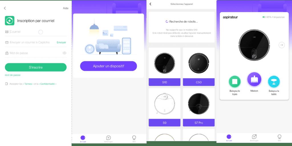 Création du compte et enregisterement du robot aspirateur 360 S10 dans l'application 360Robot