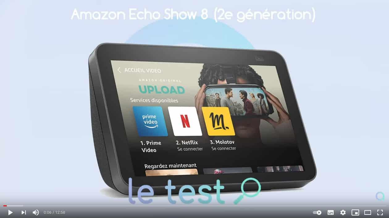 Echo Show 8 2021 : notre avis en vidéo sur YouTube