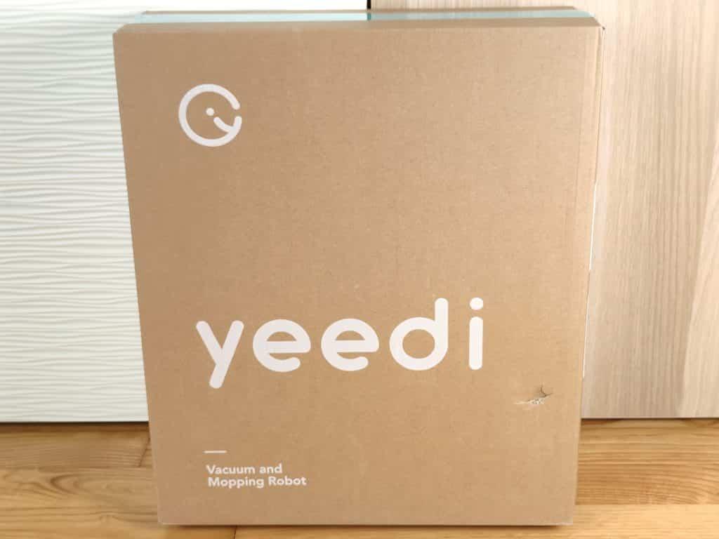 L'emballage du robot aspirateur Yeedi vac max est très sobre