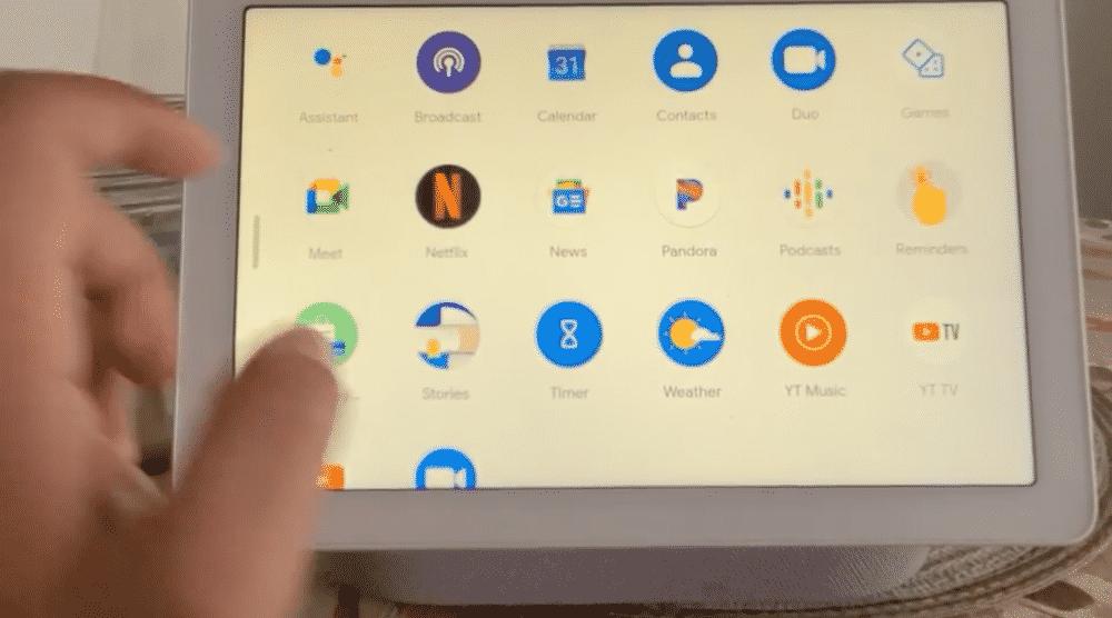 Lancez les applications depuis un tiroir sur Google Nest Hub
