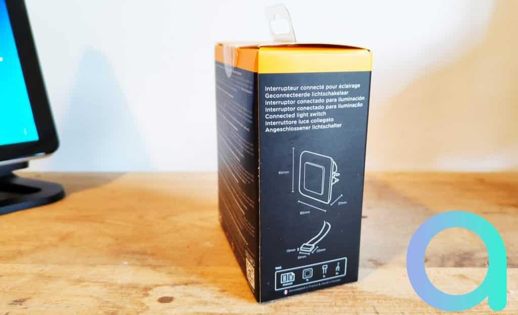 Les flancs de l'emballage affiches les caractéristiques de l'interrupteur Dio avec utilisation d'un condensateur fourni