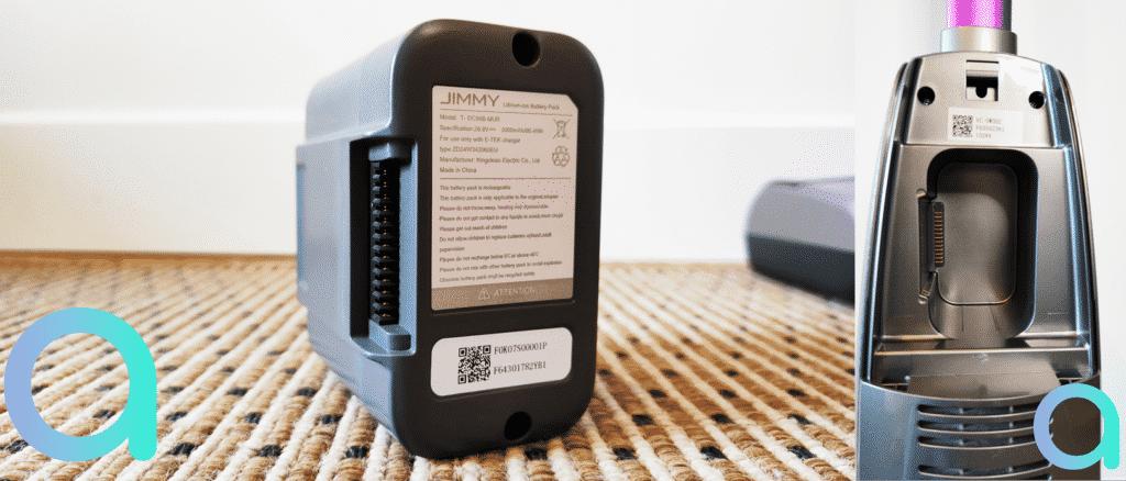 comptez de 25 à 35 min d'autonomie selon la puissance d'utilisation du balai nettoyeur Jimmy HW8 Pro