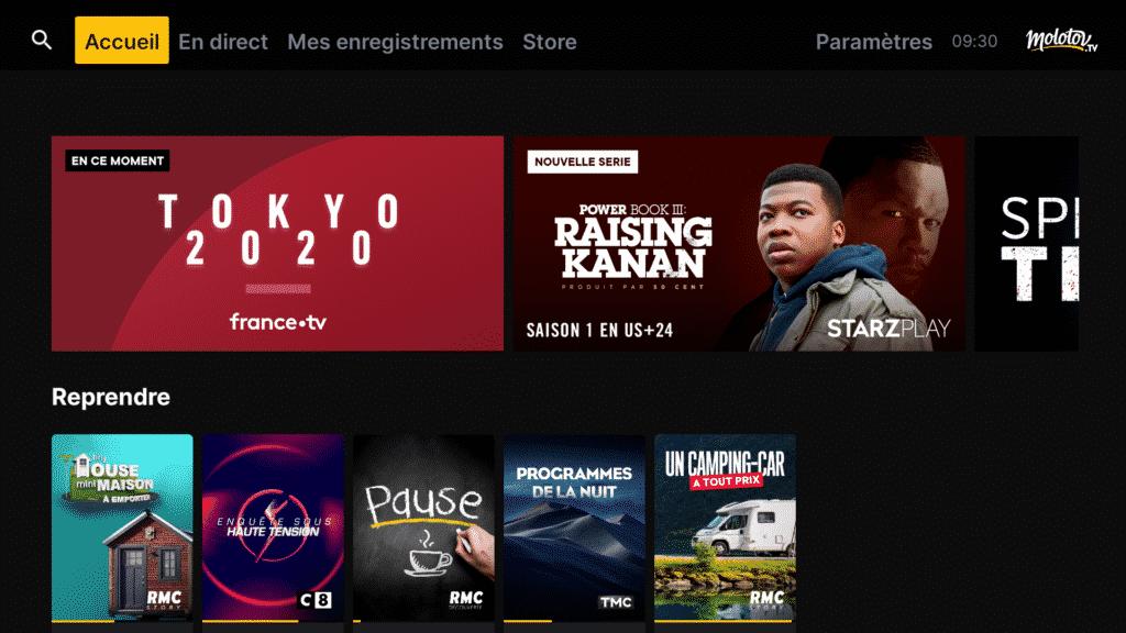 Nouvelle application Molotov sur Fire TV 2021