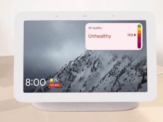 Google affiche la qualité de l'air sur Nest Hub