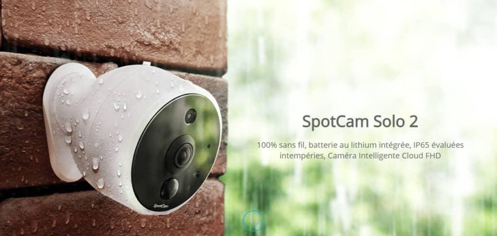 Avis et meilleur prix pour la caméra extérieur SpotCam Solo 2