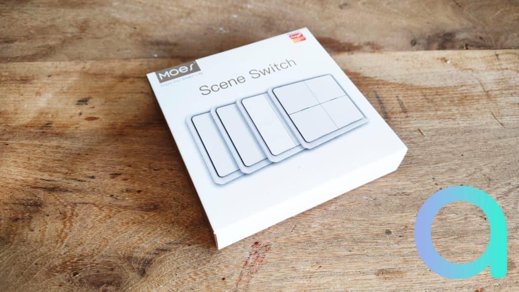 Moes présente son interrupteur sans fil ZigBee dans un emballage proposant différents modèles : 1, 2, 3 ou 4 boutons