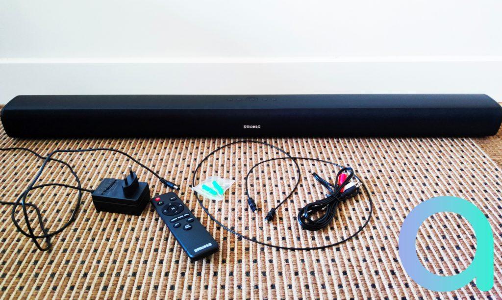 LA barre de son Sakobs DS6601 et ses accessoires