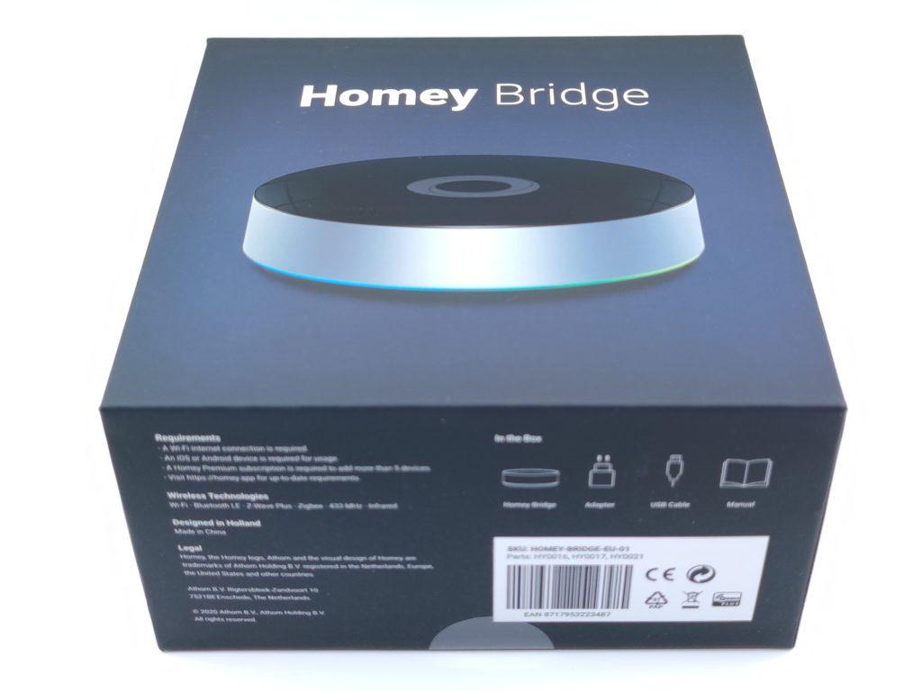 Coffret de la box domotique Homey Version Bridge