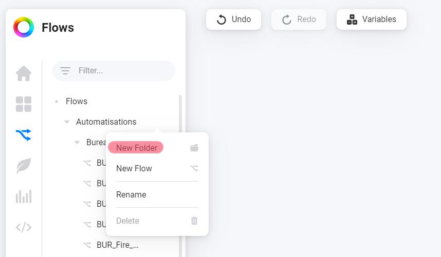 Comment créer des catégories de Flows dans Homey