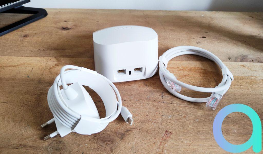 caque module dispose de son cable Ethernet et du nécessaire pour le branchement électrique